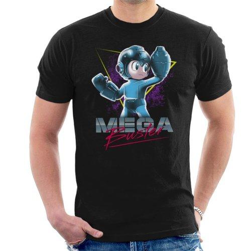 Mega Man Buster Retro 80s Men's T-Shirt