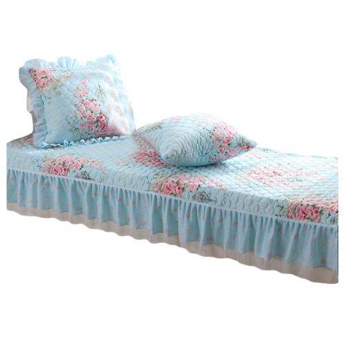 [Blue Rose] Bay Window Mats Lace Cover Window Bench Mat, No Cushions, 27x47inch