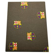 Fc Barcelona Official Printed Football Crest Table Cloth (140cm x 140cm) (grey) -  official football barcelona printed table cloth party licensed