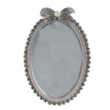 6-inch Photo Frame Elipse Rhinestones Photoframe and Home Decoration