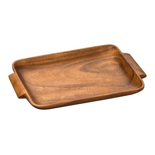 Acacia Wood Socorro Serving Tray with Handles