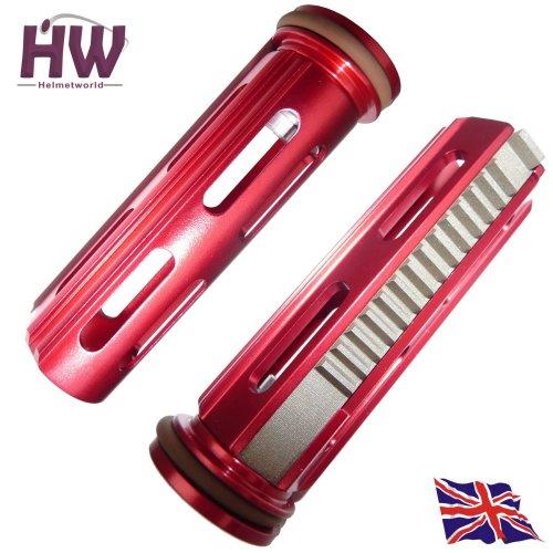 Airsoft Aeg Metal Piston & Head Full Steel Teeth High Torque Aluminium Red M4 V2