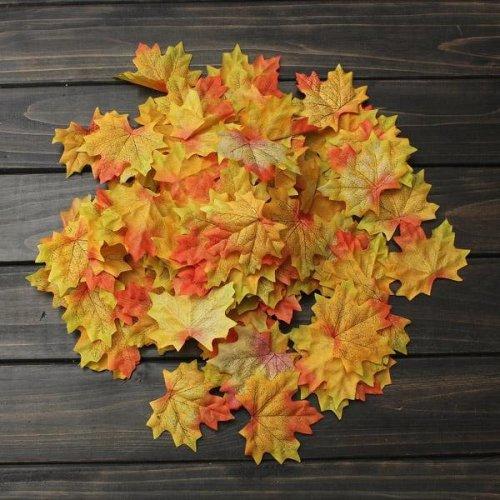 100pcs Artificial Maple Leaves Fall Leaf Party Decor Ornament