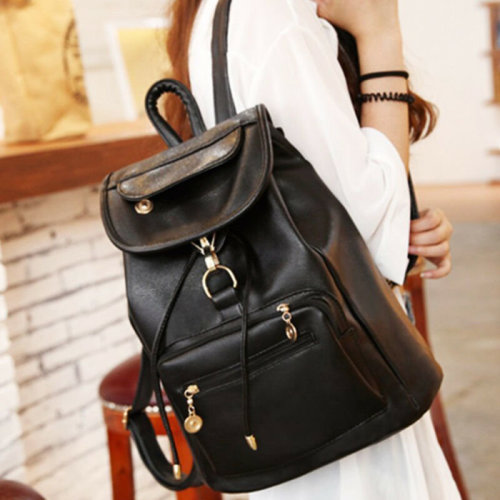 Ladies Leather Backpack School Rucksack College Shoulder Satchel Travel Bags UK