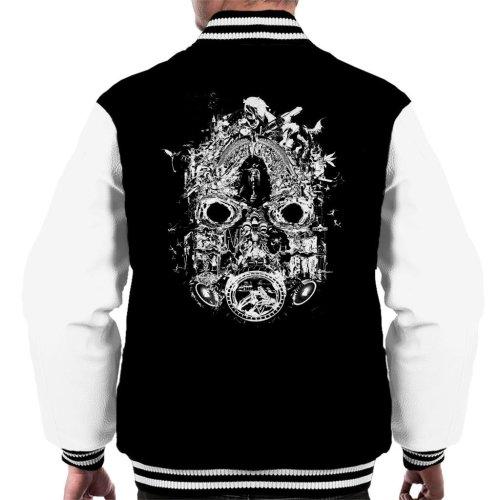 Borderlands 3 Mask Of Mayhem White Print Men's Varsity Jacket