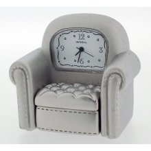 Chrome Armchair Miniature Clock by Gift Time Products
