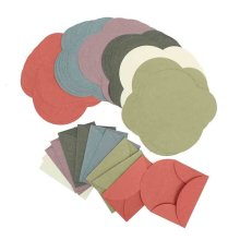 Vintage Retro Colored Blank Mini Paper Envelopes