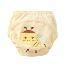 2 PCS Lovely Cartoon Baby Diapers with Bee Pattern M Size Pants