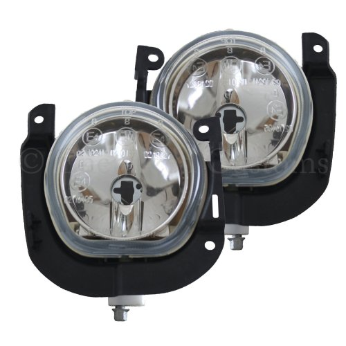 Fiat Qubo 2008-> Front Fog Light Lamps 1 Pair O/s & N/s