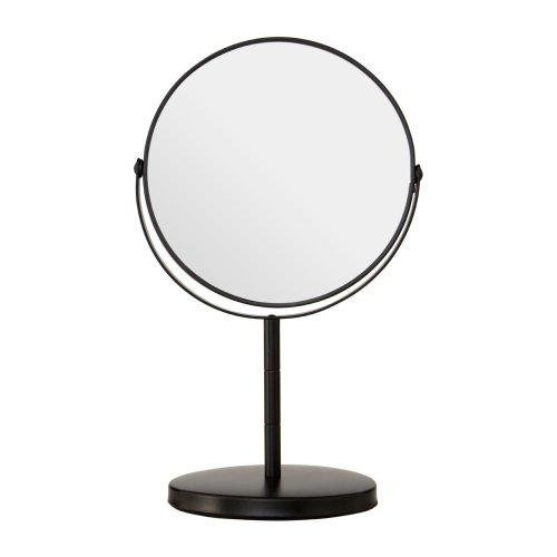 Black Metal Adjustable Swivel Table Mirror