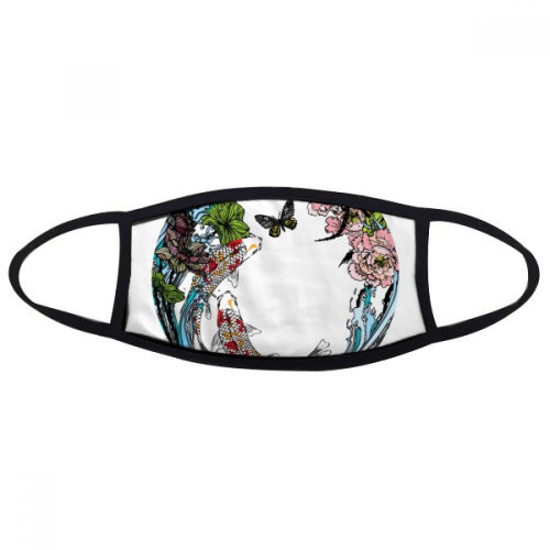 Carp Peony Lotus Pattern Geometry Face Anti-dust Mask Anti Cold Maske Gift