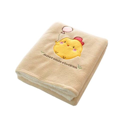 Lovely Double-layer Living Room Throw Blanket - Chicken, 100x150cm/39x59inch