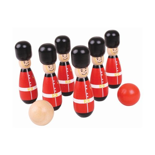 Bigjigs Toys Wooden Guardsman Skittles - Tabletop Games