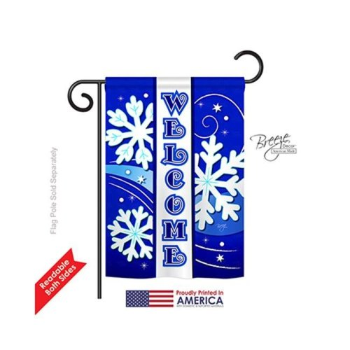 Winter Welcome Winter 2-Sided Impression Garden Flag - 13 x 18.5 in.