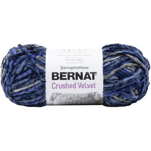 Bernat Crushed Velvet Yarn-Navy