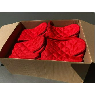 30 x Red Baking Cook Lined Oven Glove Mitts - 30 pcs - Joblot