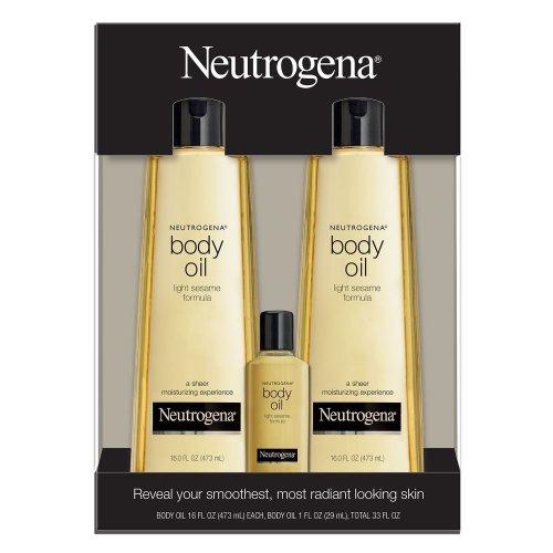 Neutrogena Body Oil Moisturizer 16 oz(473 ml), 2 pk + 1 oz(29 ml) 1 pk