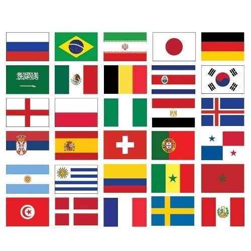 GLOW Premium Quality Flags Of The World