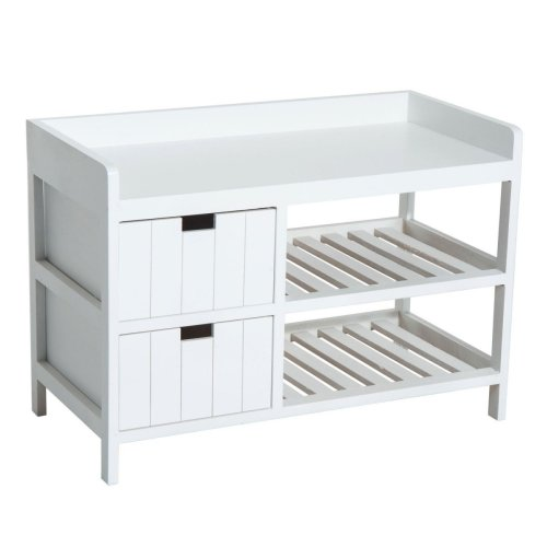Homcom Entryway Storage Bench | Storage Seat Unit With Drawers