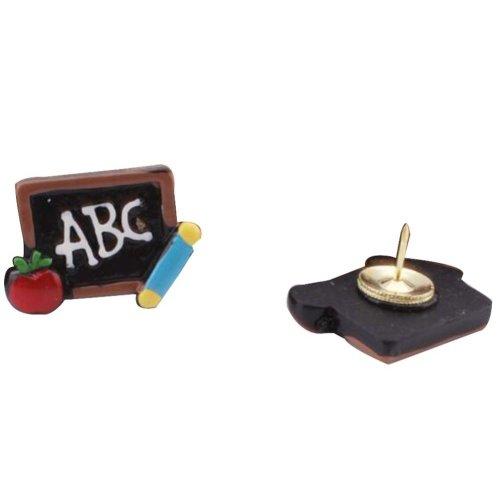 4 Pcs Creative Pushpin Push Pin Thumbtack Office Supplies, Chalkboard