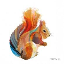 4 x Paper Napkins - Leros Squirrel  - Ideal for Decoupage / Napkin Art