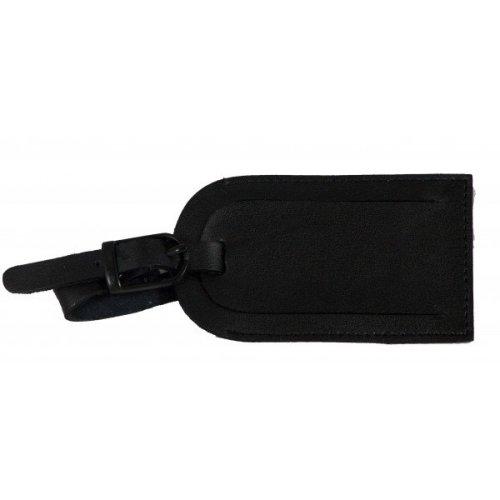 Falcon Leather Luggage Label - FI4023 Black