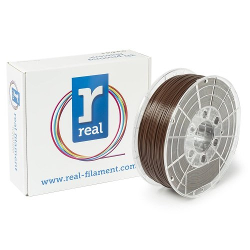 Real Filament 8719128326528 Real PLA, Spool of 1 kg, 1.75 mm, Brown