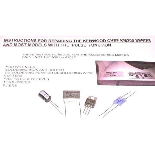 Kenwood Chef Mixer Pulse Speed Control Module Repair Kit and Guide
