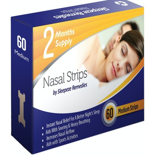 asal Strips Medium 60 by Sleepeze Remedies Nose Strips to Stop Snoring
