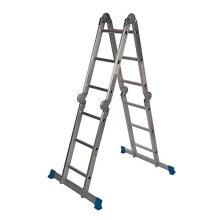Silverline Multipurpose Ladder With Platform 3.6m 12-tread -  platform multipurpose ladder silverline 36m 12tread 953474