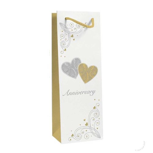 Wedding Anniversary Bottle Gift Bag