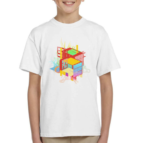 Rubiks Building Kid's T-Shirt
