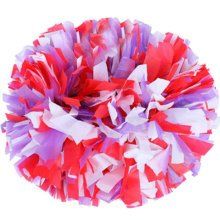 2 PCS Team Sports Cheerleading Poms Match Pom Plastic Ring Colorful-02