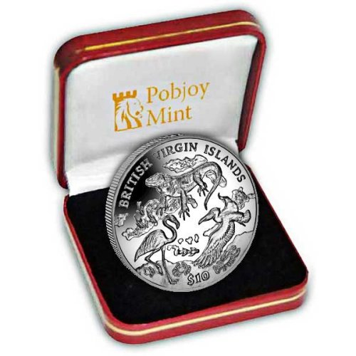 British Virgin Islands 2018 Archipelago and Wildlife Proof Sterling Silver Coin