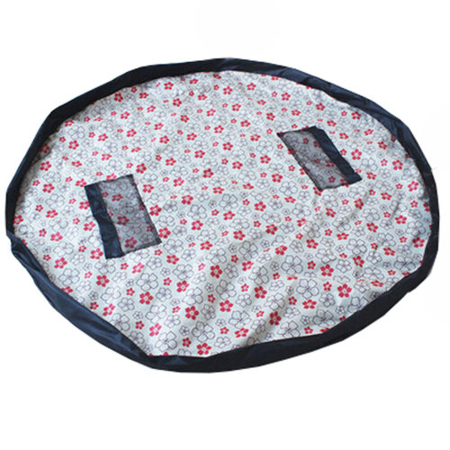 Baby Kids Play Floor Mat Toy Storage Bag  Quickly Easily Folds Up,Lovely Flower