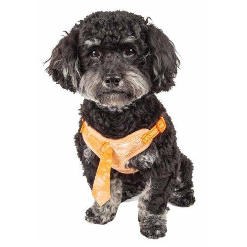 Pet Life HA50ORXS Bonatied Mesh Reversible & Breathable Adjustable Dog Harness with Designer Neck Tie, Orange - Extra Small