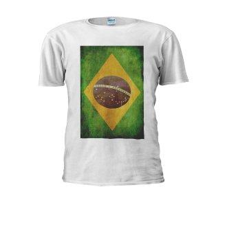 Brazilian Flag Brazil Football Retro Men Women Unisex Top T Shirt