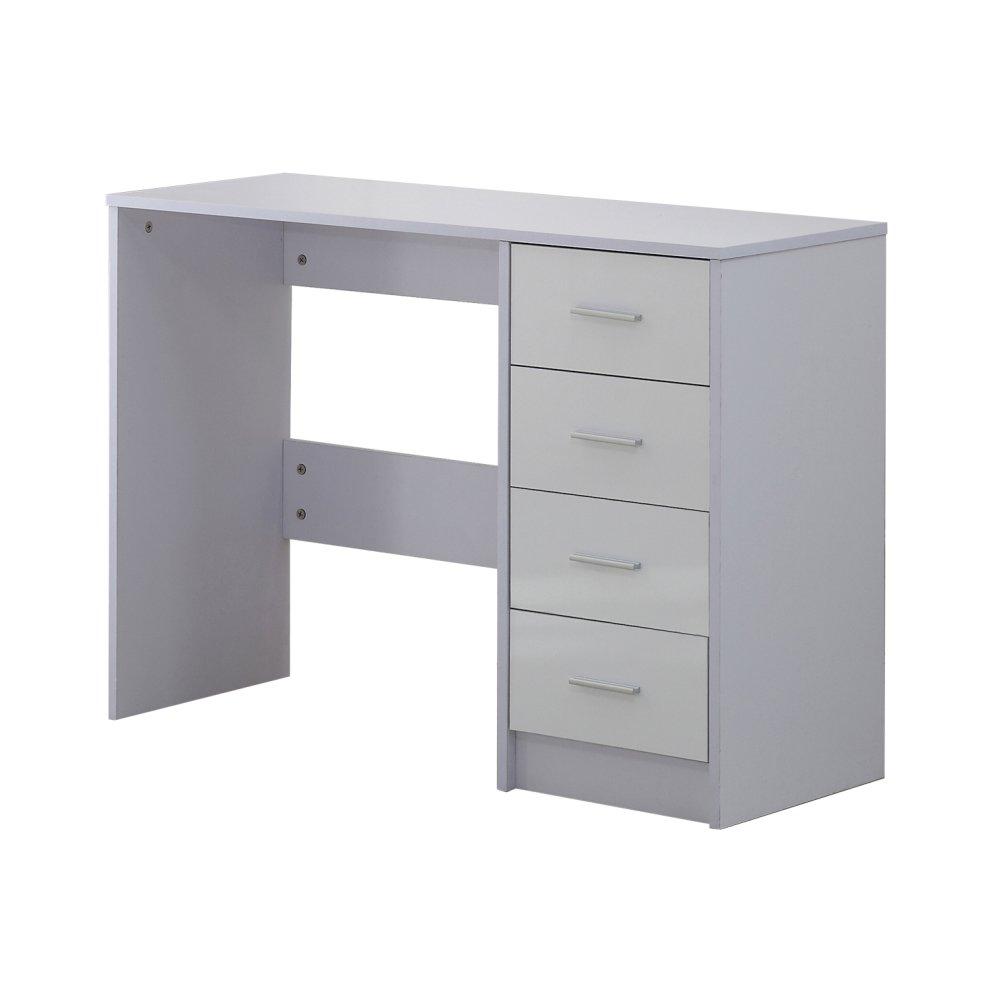 High Gloss 4 Drawer Vanity Dressing Table Furniture White