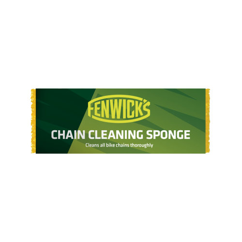 Fenwicks Unisex Bike Chain Cleaning Sponge, Yellow