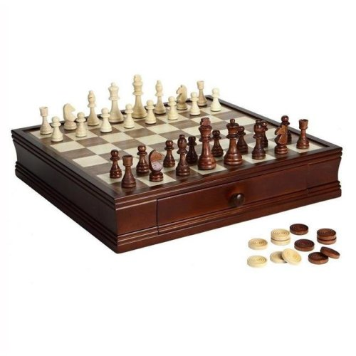 Carmelli NG2110 Prodigy Wood Chess & Checkers Set