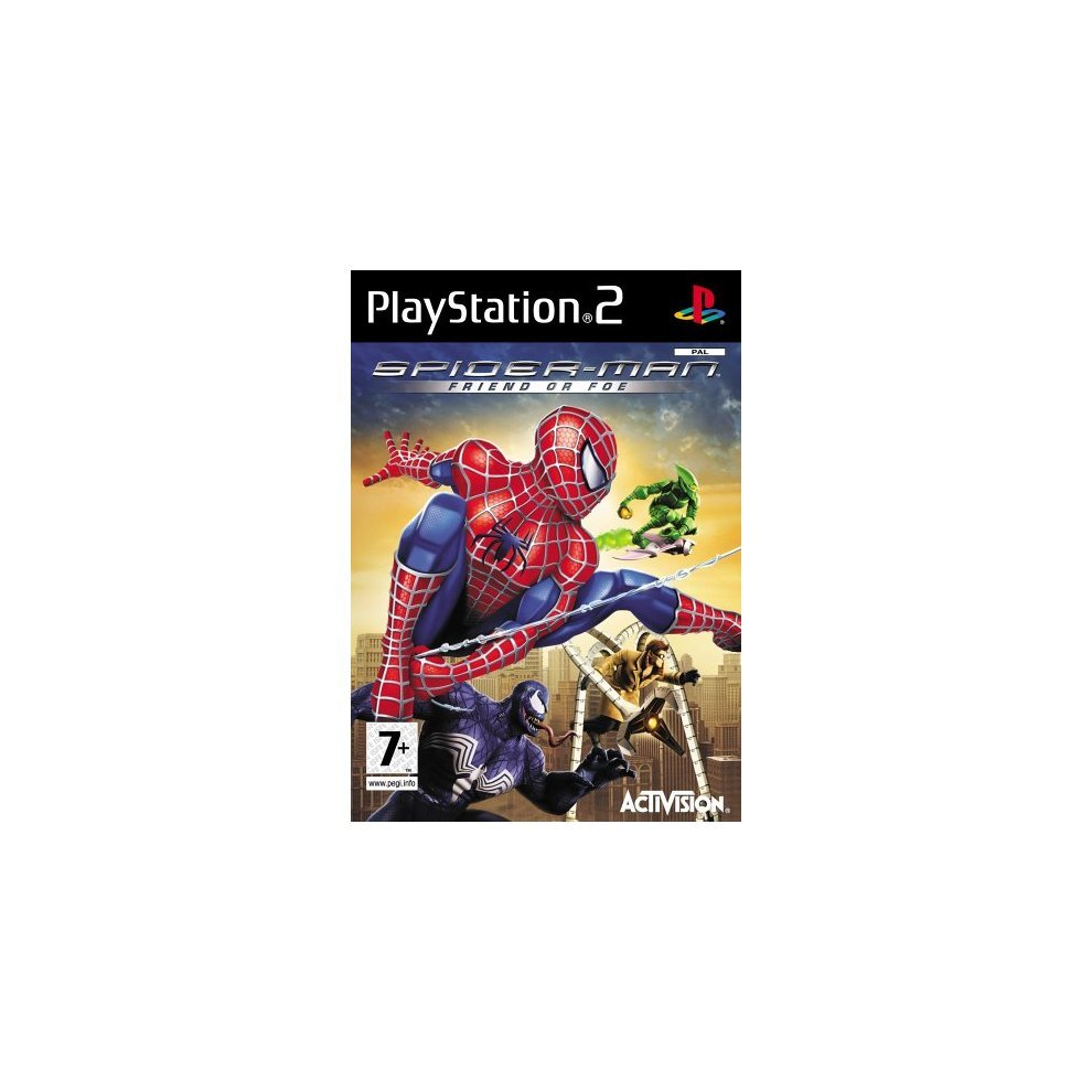 Spider Man Friend or Foe PS2 Iso free download For PCSX2 Pc and mobile ,Spider Man Friend or Foe apk android ppsspp,Spider Man Friend or Foe ps2 iso Sony Playstation 2,Inspired by the Spider-Man film trilogy and the classic Spider-Man…