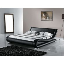 Super King Size -  6 ft - Leather Bed 180x200 cm -  incl. stable slatted frame - AVIGNON