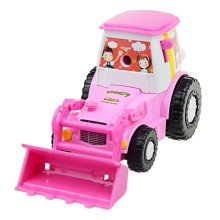 Creative Bulldozer Manual Pencil Sharpener For Office Classroom 20x9CM  Pink