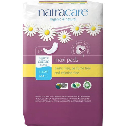 Natracare Natural Maxi Pads - Super | 12s