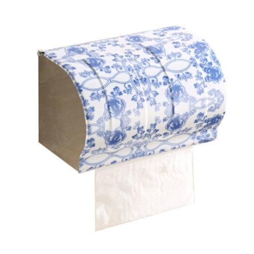 Bathroom Tissue Holder/Toilet Paper Holder,Stainless Steel,widen,blue and white