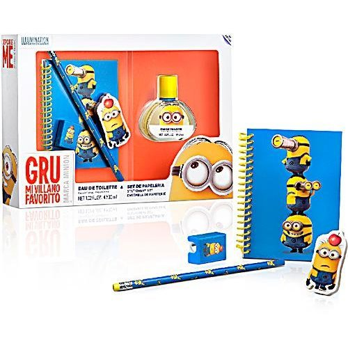 Minions Set Eau de Toilette 30 ml and Stationery Set