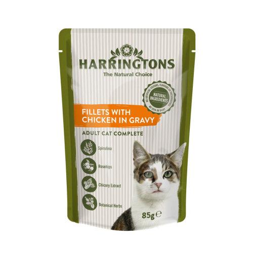 Harringtons Wet Cat Chicken  8x85g (Pack of 4)