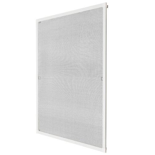 Fly screen for window frame 130 x 150 cm white