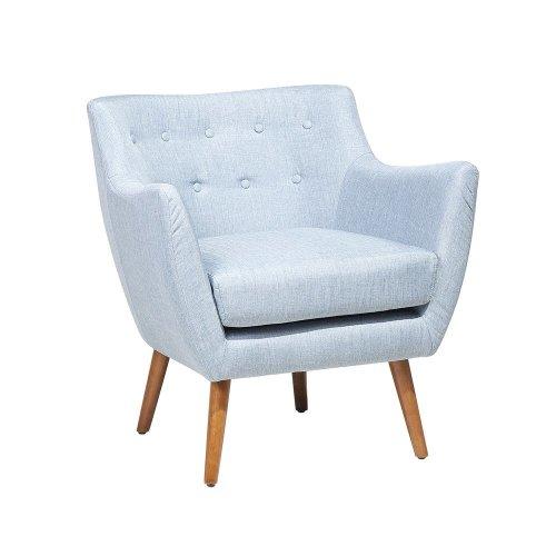 Fabric Armchair Light Blue DRAMMEN