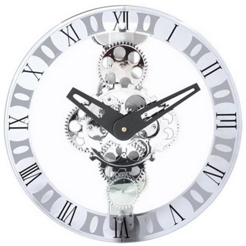 Maples GCL06-333 Moving-Gear Wall Clock - With Glass Cover